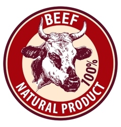 cow hand drawn llustration sketch logo vector image vector image