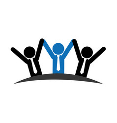 pictogram emblem with group of executives vector image