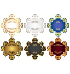 Set of retro vintage badges and labels with vector image vector image