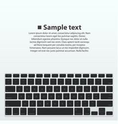 Silhouette keyboard vector