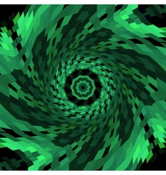 Spiral swirl of green color vector image vector image