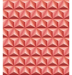 Tripartite pyramid red-brown clay seamless texture vector image vector image