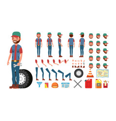 truck driver animated trucker character vector image vector image