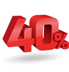 40 percent digits vector image