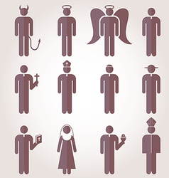 Christian Religion Tradition Pictogram Icons vector image vector image