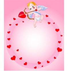 cupid background vector image vector image