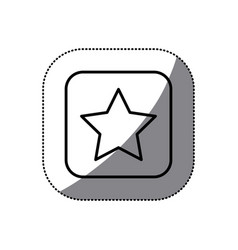 figure symbol star icon vector image