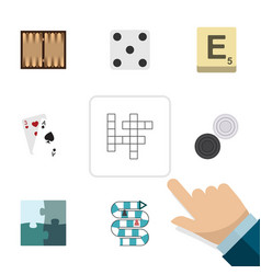 Flat icon entertainment set of ace multiplayer vector