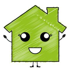 green house kawaii character vector image