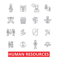 human resources people hiring employee hr vector image vector image