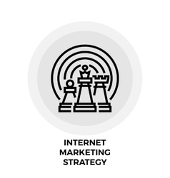 Internet Marketing Strategy Line Icon vector image