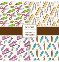 Seamless School or Office Supplies Pattern set Thi vector image
