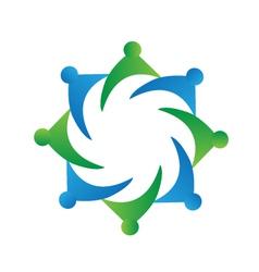 Teamwork business logo vector image