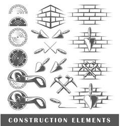 Vintage construction elements vector