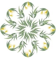 Abstract botanical eucalyptus ornament vector image vector image