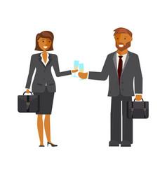 Businessmen and businesswomen characters vector