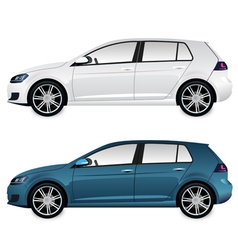 Car blue and white vector image