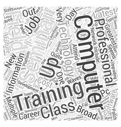 Computer IT Training Word Cloud Concept vector image vector image