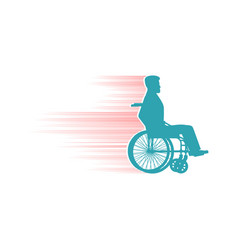 Disabled person in chair wheelchair travelling fas vector image vector image