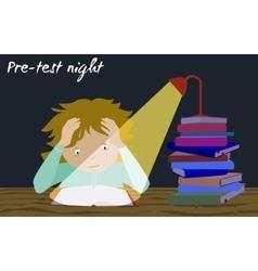 Examination test preparation Exam student stress vector image vector image