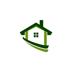 Green house real estate image vector image vector image