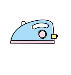 iron domestic object and housework vector image
