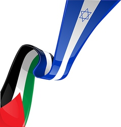 Israel and palestine flag vector image vector image