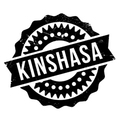 Kinshasa stamp rubber grunge vector image vector image