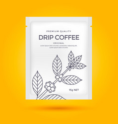 packaging design for coffee vector image vector image
