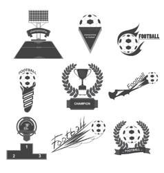 Set Football vector image