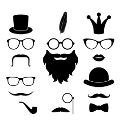 set of hipster photosession accessories vector image