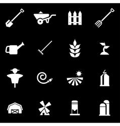 white farming icon set vector image vector image