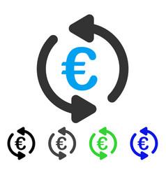 Euro repeat arrows flat icon vector