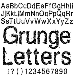 Grunge Letters and Numbers vector image