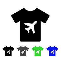man t-shirt flat icon vector image
