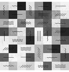 monochrome seamless pattern with lines vector image vector image