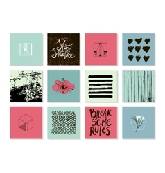 set of abstract modern trendy cards vector image vector image