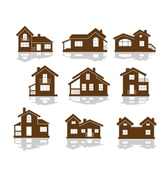 Set of apartment house icons vector image