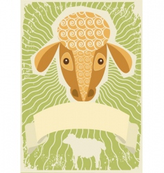 sheep grunge vector image vector image
