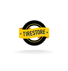 Tires store logo vector image vector image