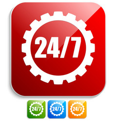 247 badge for repair or manufacturing concepts vector image