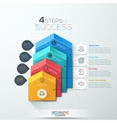 arrow staircase diagram business step options vector image