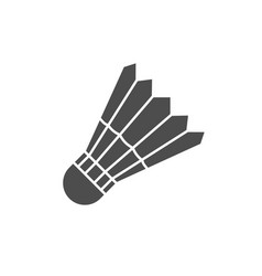 badminton shuttle icon image vector image