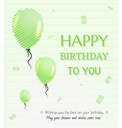 Balloon and happy birthday vector