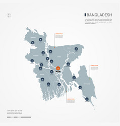 Bangladesh infographic map vector