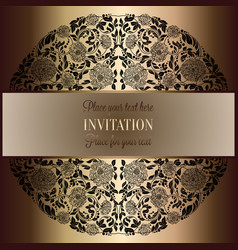 baroque background with antique luxury black and vector image