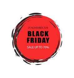 Black friday sale and offers 70 percent lower vector