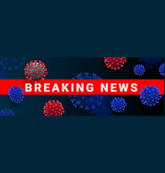 Breaking news headline webbanner template with vector