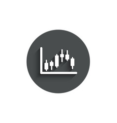 Candlestick chart simple icon financial graph vector