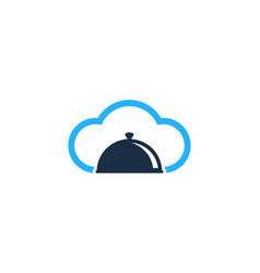 Cloud food logo icon design vector